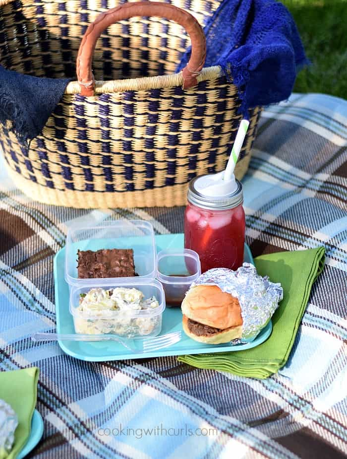 Cooking with Astrology Virgo Picnic | cookingwithcurls.com | Blackberry Passion Tea Lemonade, Slow Cooker Barbecue Beef Sandwiches, Tangy and Sassy Barbecue Sauce, Texas Sheet Cake, Bacon Potato Salad