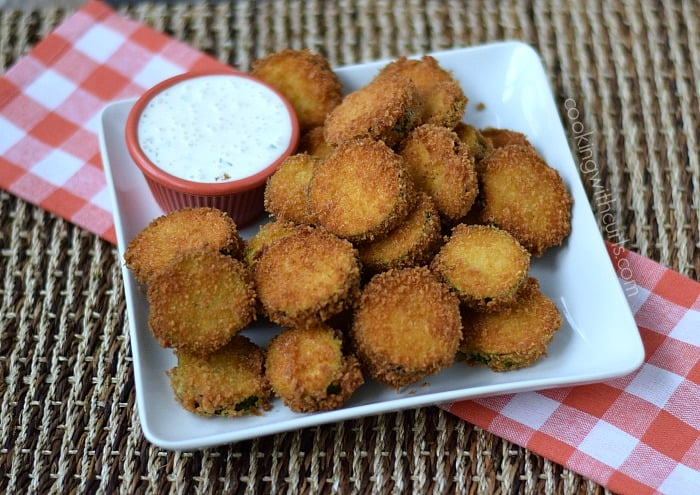 Fried Zucchini | cookingwithcurls.com | #appetizer #dairyfree