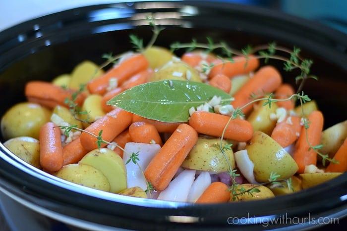 Slow Cooker Pot Roast herbs cookingwithcurls.com