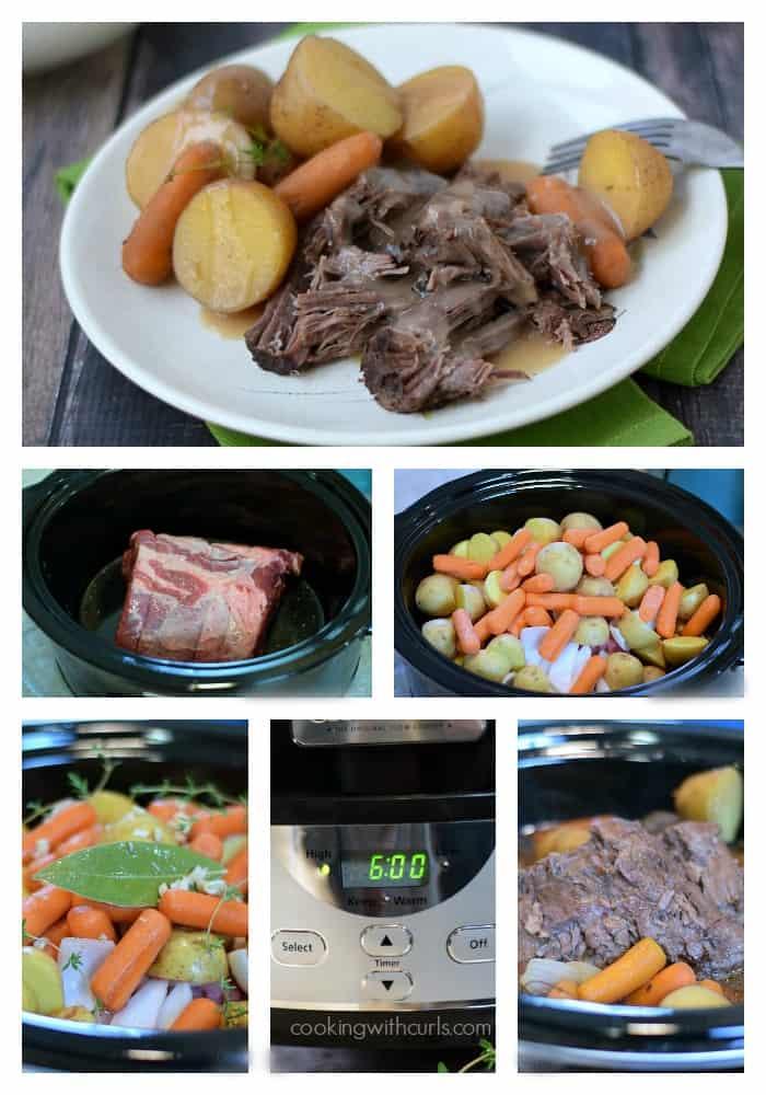 Slow Cooker Pot Roast with Gravy | cookingwithcurls.com | #crockpot #sundaydinner