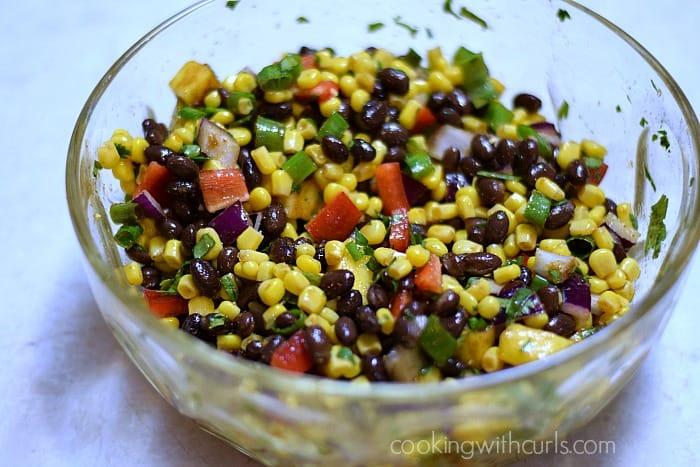 Black Bean Salsa mix cookingwithcurls.com