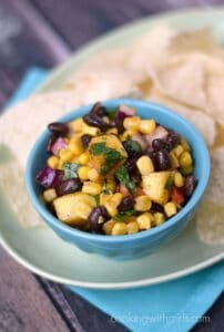 Black Bean Salsa with Mangoes cookingwithcurls.com