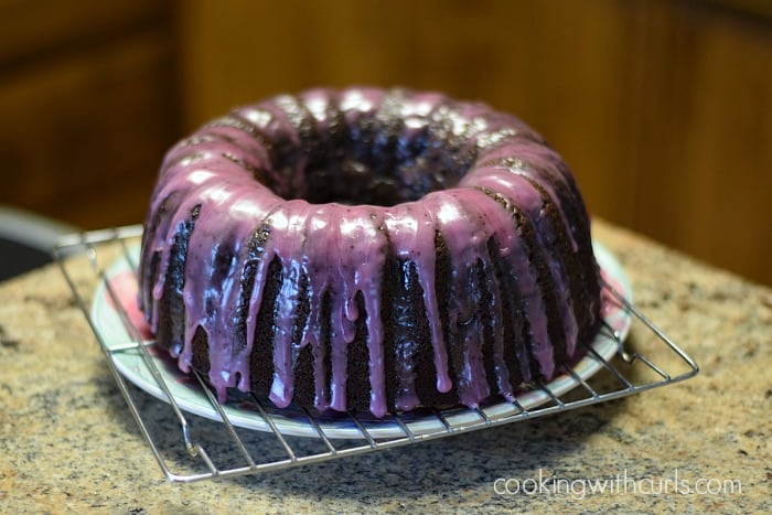 Chocolate Huckleberry Rum Cocktail Cake Idaho | cookingwithcurls.com