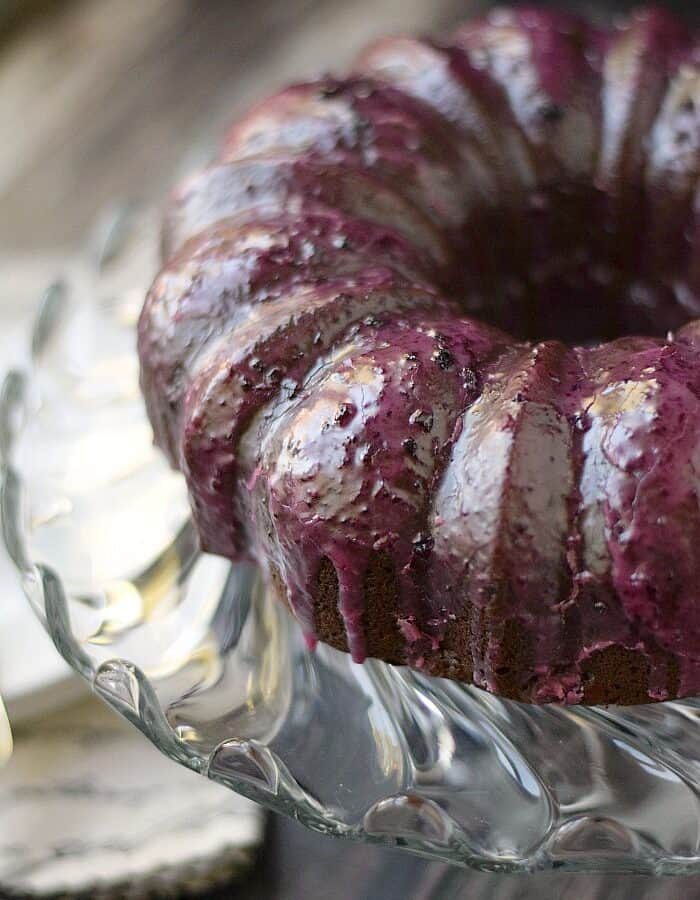 Chocolate Huckleberry Rum Cocktail Cake! cookingwithcurls.com