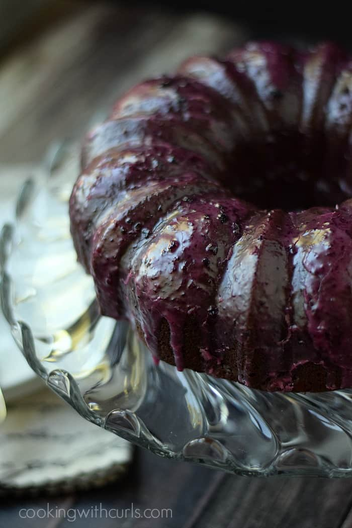 Chocolate Huckleberry Rum Cocktail Cake | cookingwithcurls.com