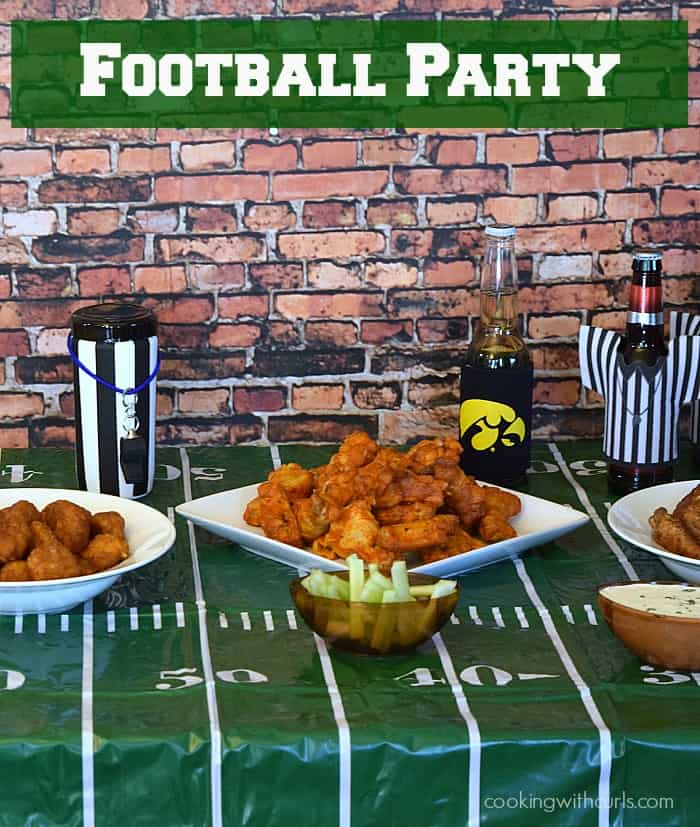 Football Party with Tyson Any'Tizers Wings and Wet-Nap Hand Wipes | cookingwithcurls.com | #wingsandwipes #pmedia #ad