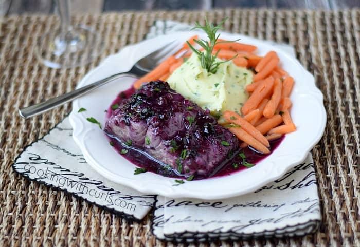 Huckleberry Glazed Salmon | cookingwithcurls.com