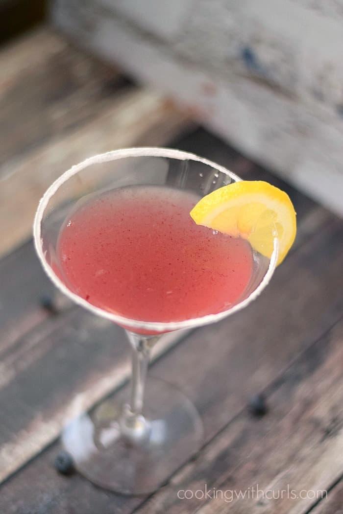 Huckleberry Lemon Drop Martinis cookingwithcurls.com
