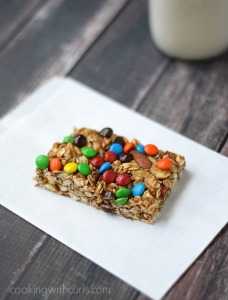 M&M's Almond Granola Bars