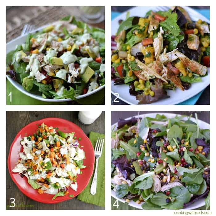 Southwest Chicken Salad Collage | cookingwithcurls.com