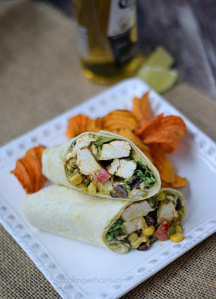 Southwest Chicken Salad Wraps | cookingwithcurls.com