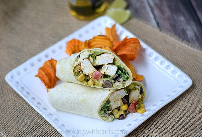Southwest Chicken Salad Wraps for a quick weeknight meal | cookingwithcurls.com