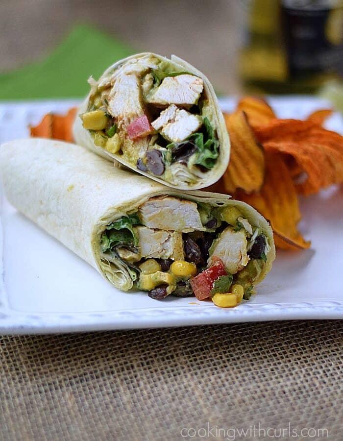 Southwest Chicken Salad Wrap | cookingwithcurls.com