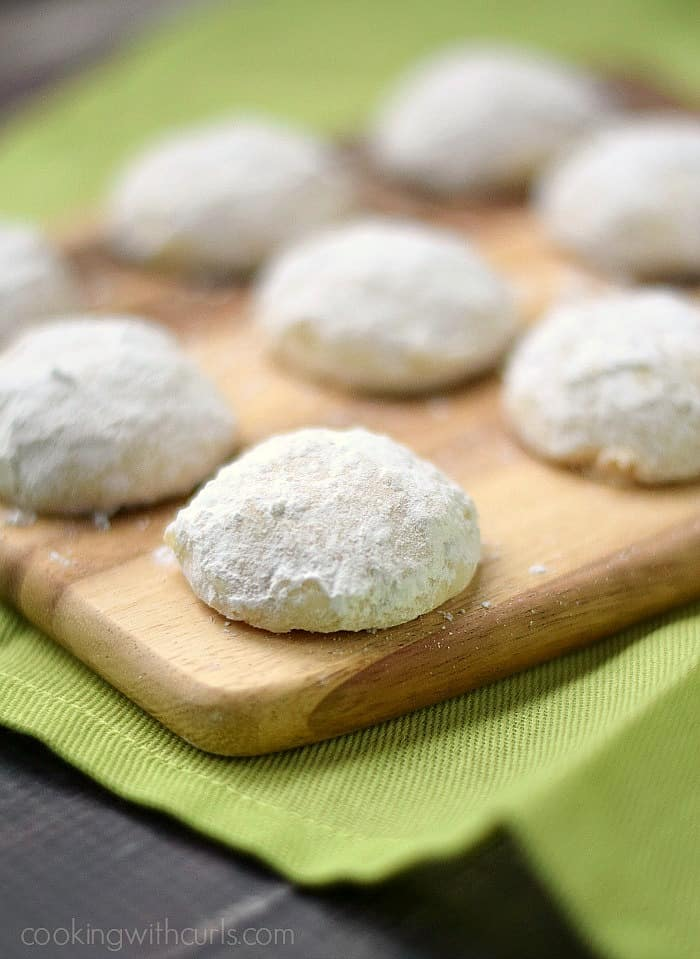 Sweet, tart Key Lime Cookies covered in powdered sugar