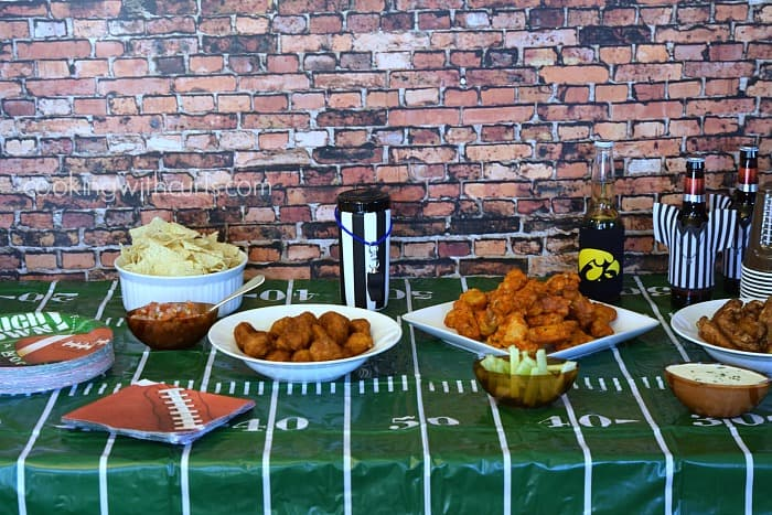 Tyson Any'Tizers Football party | cookingwithcurls.com | #wingsandwipes #pmedia #ad
