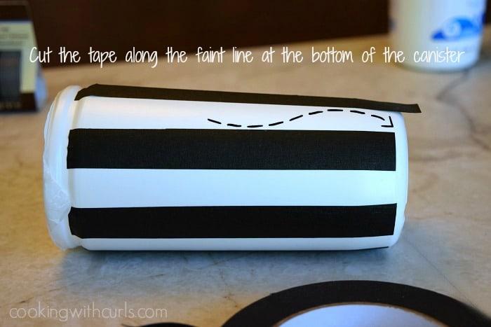 Wet-Nap cut tape cookingwithcurls.com