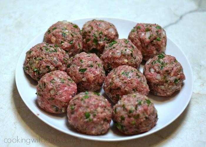 Boulets liégeois balls cookingwithcurls.com