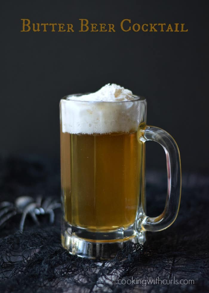 Butter Beer Cocktail | cookingwithcurls.com | #party #harrypotter
