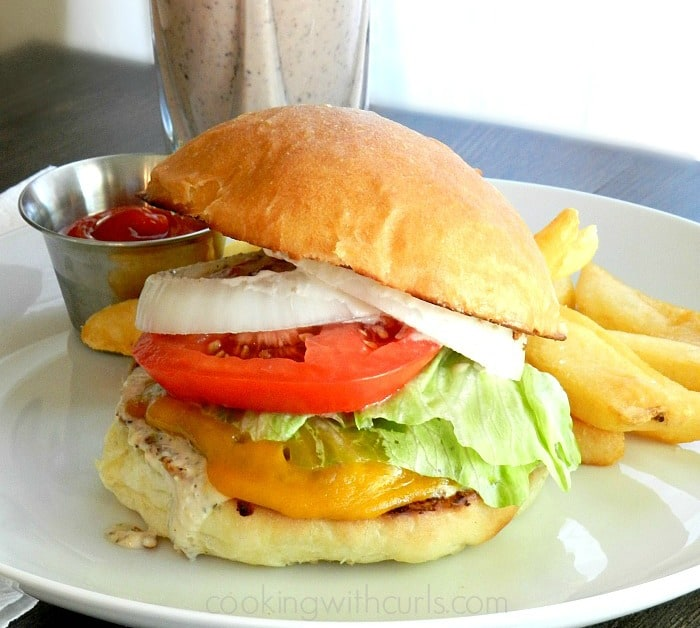 Classic Diner Burgers by cookingwithcurls.com