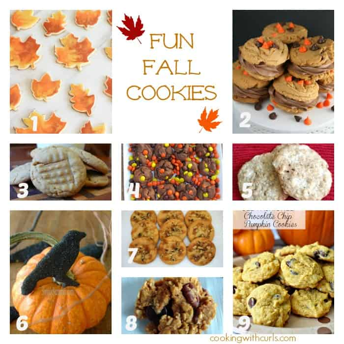Fun Fall Cookies|  Best of the Weekend Features | cookingwithcurls.com