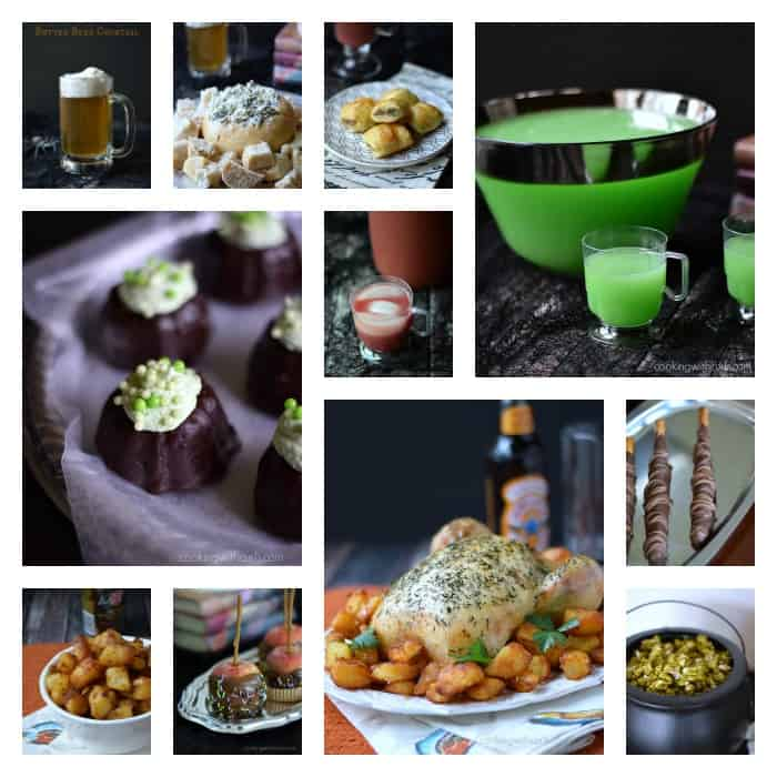 Harry Potter Party Foods Collage | cookingwithcurls.com