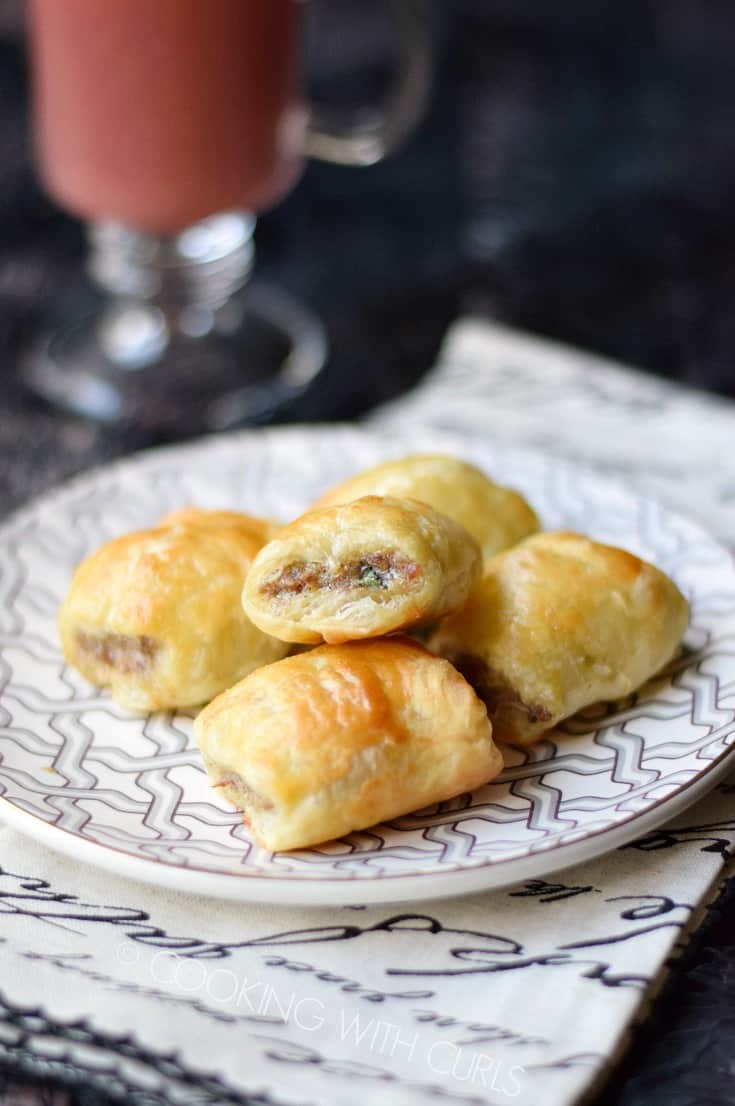 Puff Pastry Sausage Rolls - Cooking With Curls