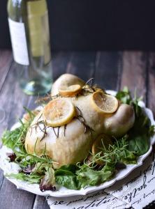 Slow Cooker Lemon Rosemary Chicken