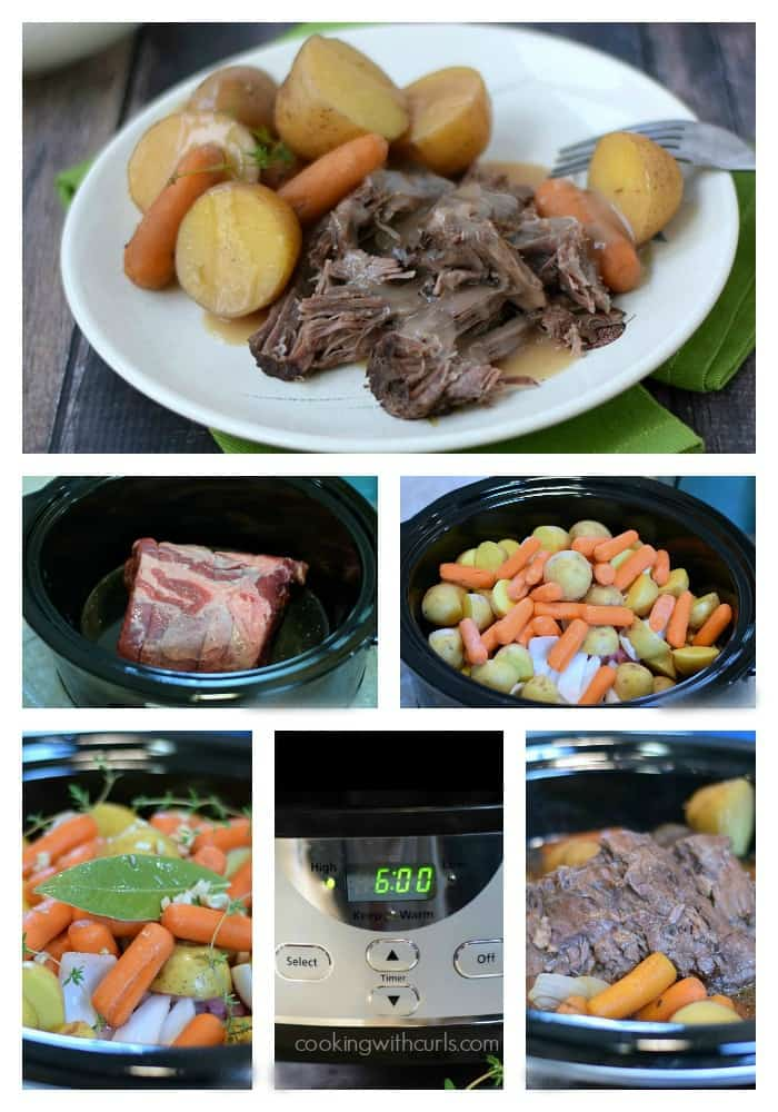 Slow Cooker Pot Roast with Gravy | cookingwithcurls.com | #sundaydinner