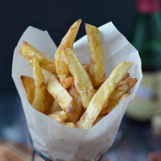 These Homemade French Fries are crispy on the outside and tender on the inside! cookingwithcurls.com
