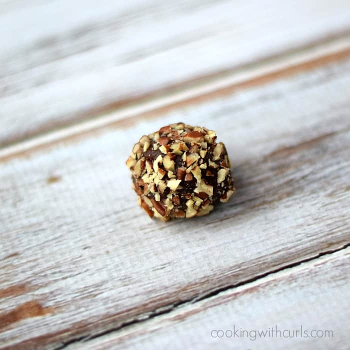 Chocolate Bourbon Truffles | cookingwithcurls.com #nuts