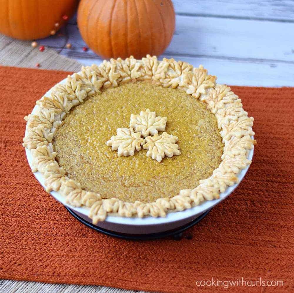 Dairy-free Pumpkin Pie   cookingwithcurls.com FB