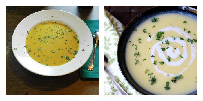 Potato Leek Soup Collage | cookingwithcurls.com