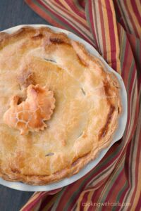 Turkey Pot Pie is the perfect way to use up those Thanksgiving leftovers! cookingwithcurls.com