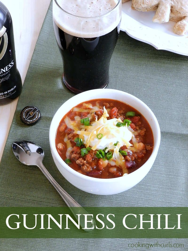 Guinness Chili by cookingwithcurls.com