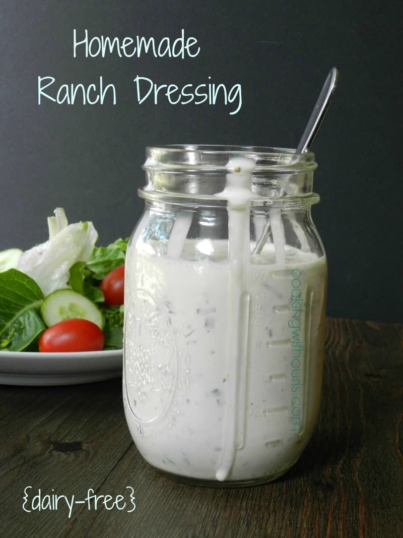 Homemade Ranch Dressing {dairy-free} from cookingwithcurls.com 2