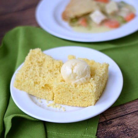 Hot, fresh Cornbread topped with delicious Honey Butter | cookingwithcurls.com
