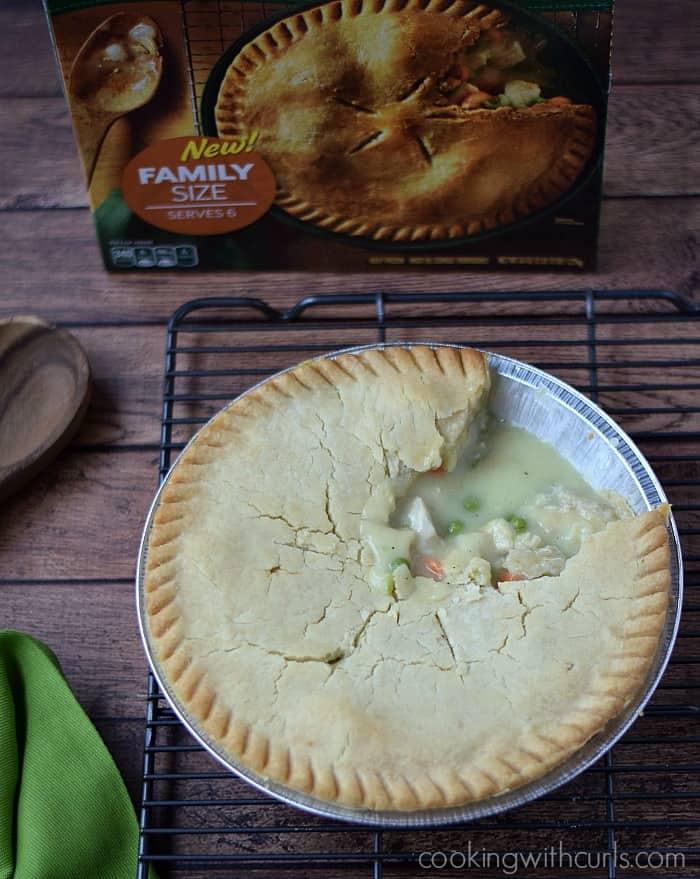 Marie Callender's Chicken Pot Pie | cookingwithcurls.com | #PotPiePlease #ad