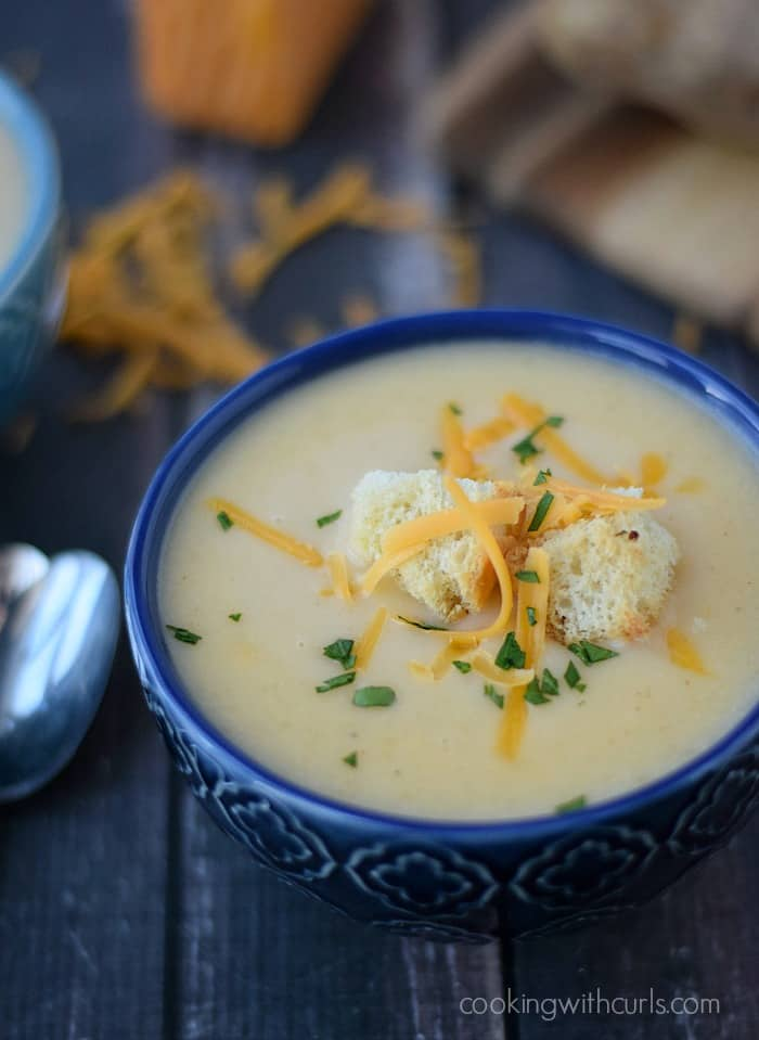 Potato Cheese Soup | cookingwithcurls.com #lactosefree