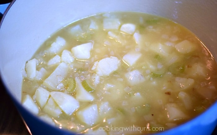 Potato Cheese Soup simmer cookingwithcurls.com