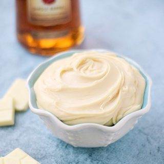 White Chocolate Truffle Dip with Four Roses Bourbon | cookingwithcurls.com