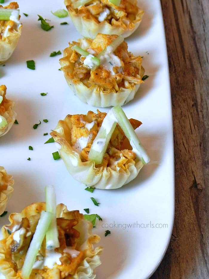 Buffalo Chicken Bites | cookingwithcurls.com #appetizers