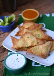 Buffalo Chicken Rangoons