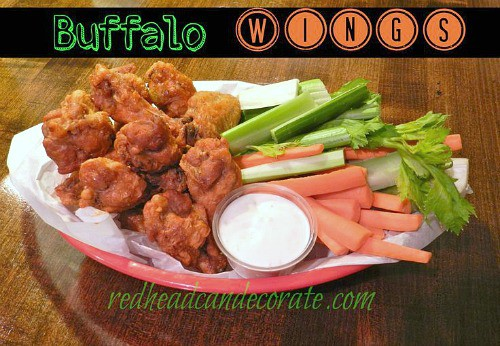 Game Day Snacks - Buffalo Wings