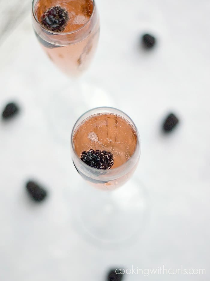 Chamobord Royale is the perfect cocktail for New Year's, Valentine's Day or Mother's Day! cookingwithcurls.com