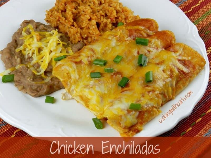 Chicken Enchiladas cookingwithcurls.com