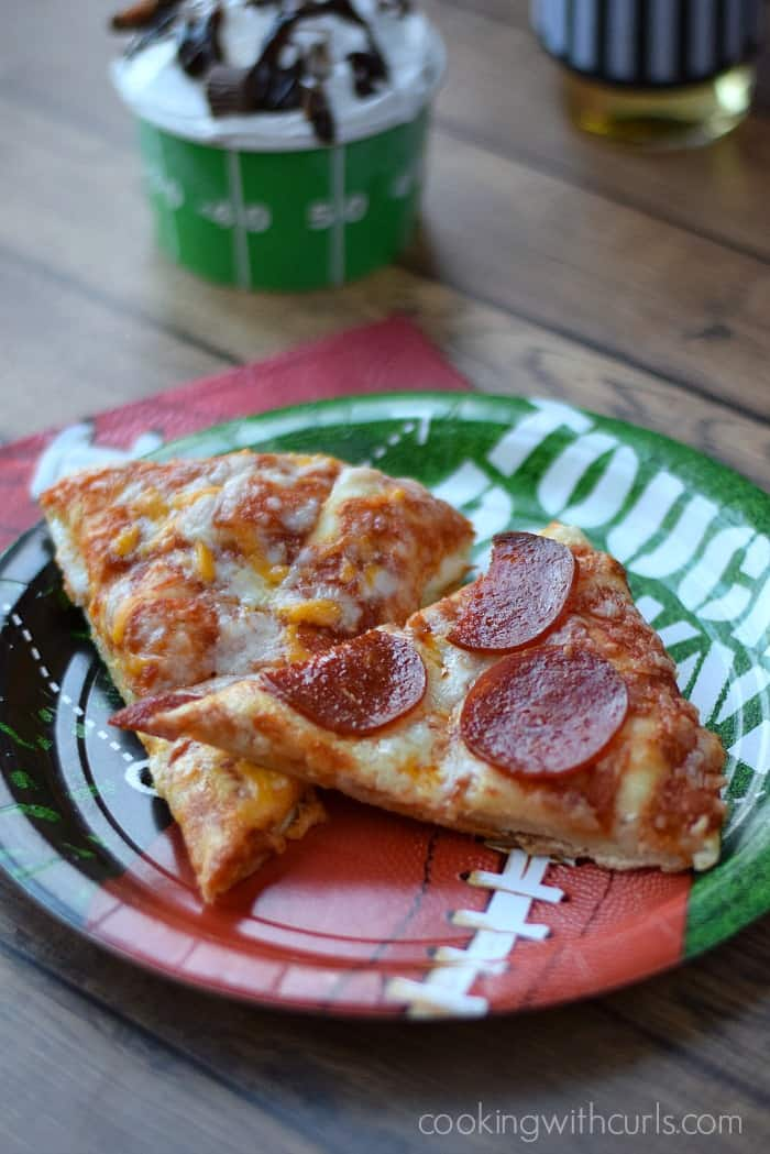 Game Day Party with DIGIORNO Cheese Stuffed Crust Pizza cookingwithcurls.com #GameDayMVP #Ad
