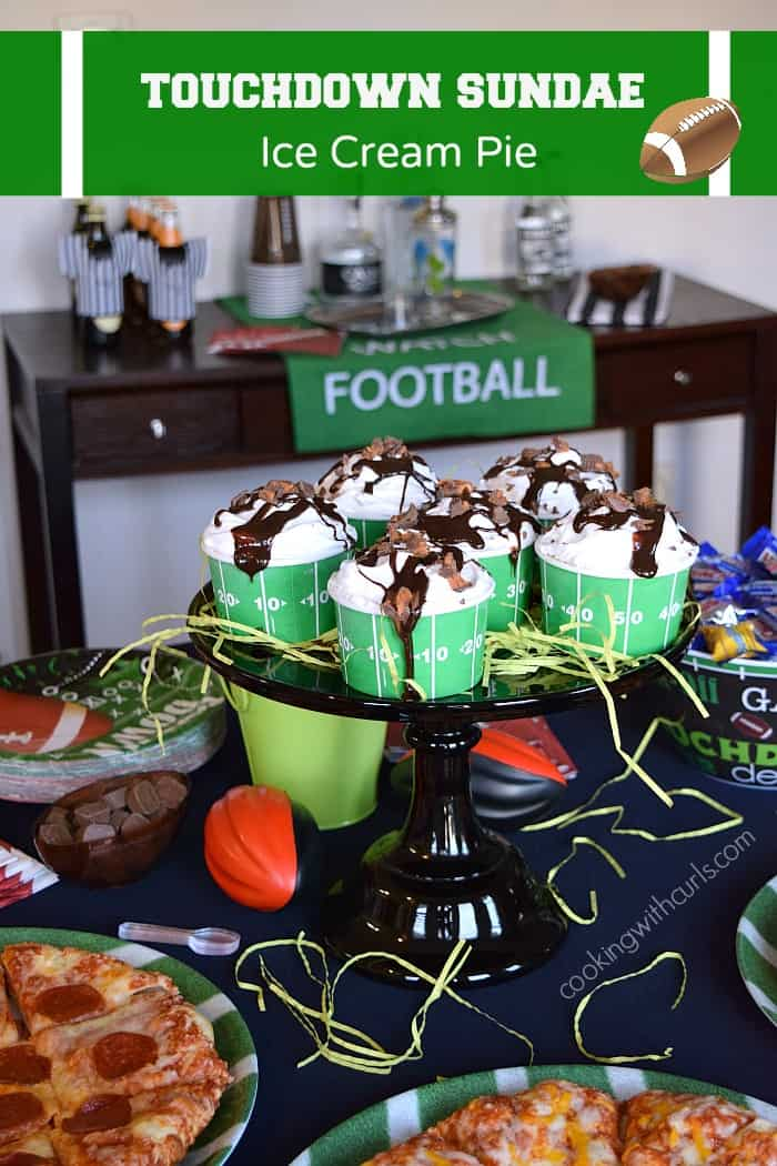 Game Day Party with Touchdown Sundae Pie  DiGiorno® Stuffed Crust Pizzas and Nestle® Crunch Fun Size | cookingwithcurls.com #GameDayMVP #ad