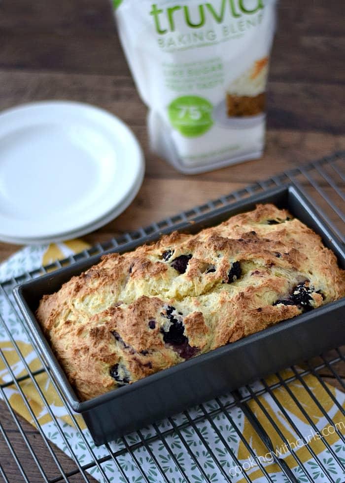 Lemon Blackberry Bread   cookingwithcurls.com #SweetWarmUp #Ad