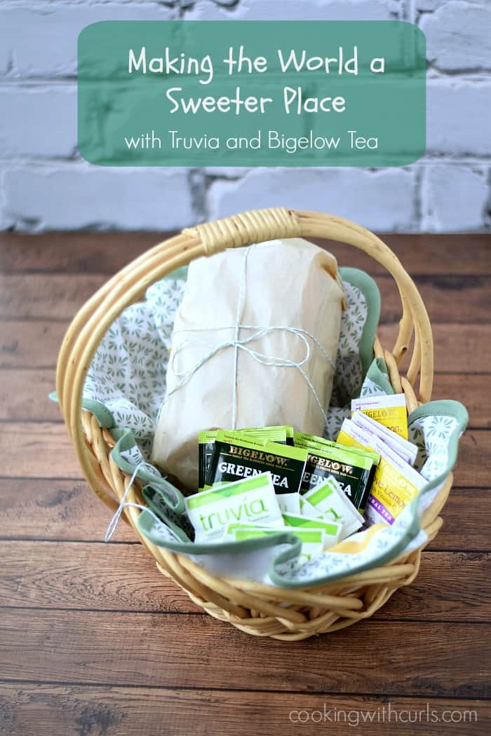 Making the World a Sweeter Place with Truvia and Bigelow Tea | cookingwithcurls.com #SweetWarmUp #Ad