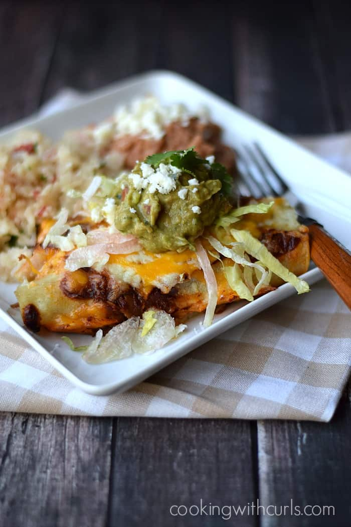 Shredded Beef Enchiladas cookingwithcurls.com